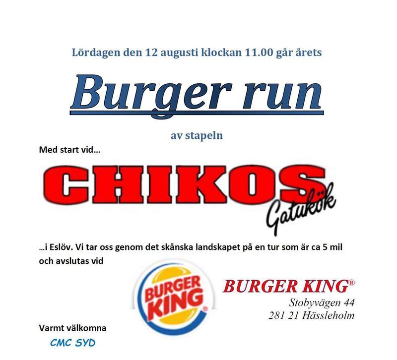 CMC Burger Run 12 augusti